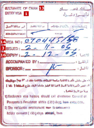 Oman Visa - Application, Requirements - Residents of India